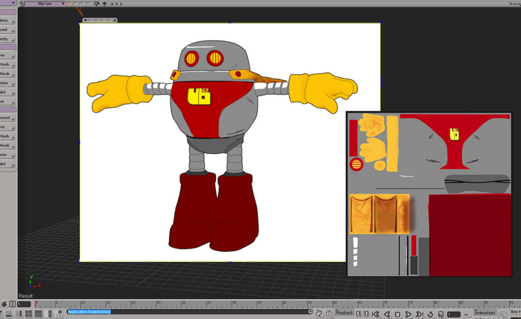 softimage toon shader, xsi toon shading, cg cell shading, robot cell shaded, toon cell shader, xsi robot animation, xsi cartoon robot
