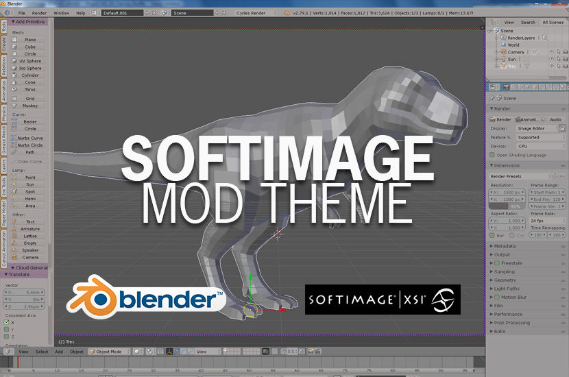 Blender - Softimage Mod Theme